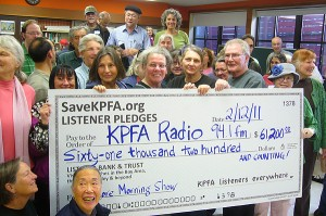 Listeners pledging for KPFA Morning Show